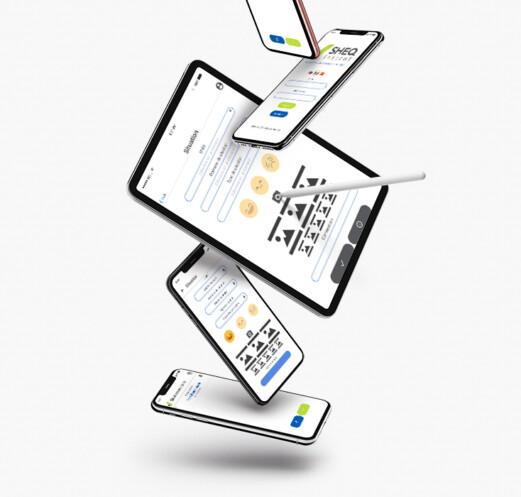 Sheq instant sur tablette et smartphone
